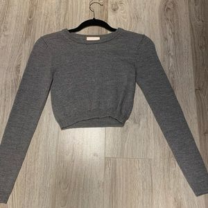 Gorgeous Cropped Grey Sweater from Aritzia